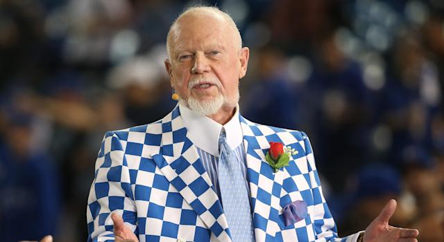 Hockey commentator Don Cherry isn't too pleased about the Carolina Hurricanes' post-game win celebrations. (Photo by Tom Szczerbowski/Getty Images)