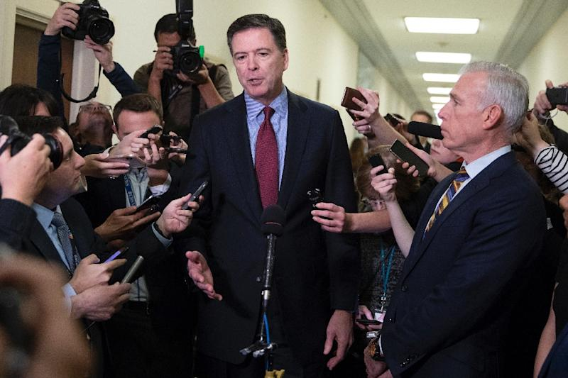 Image result for photos of comey at congressional hearing