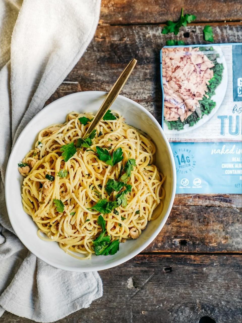 This protein rich pasta only has six ingredients (Good Catch Tuna)