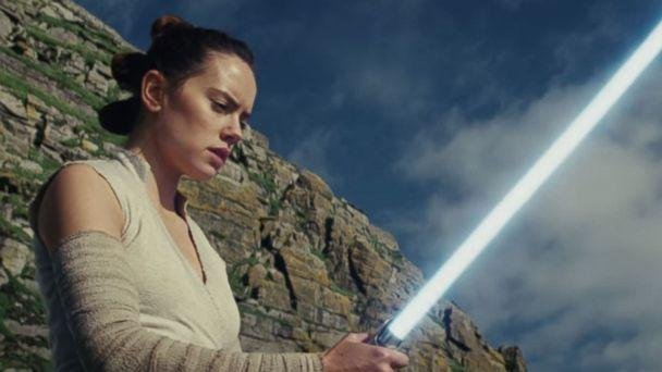PHOTO: Daisy Ridley, as Rey, in a scene from 'Star Wars: The Last Jedi' official trailer. (Star Wars/YouTube)