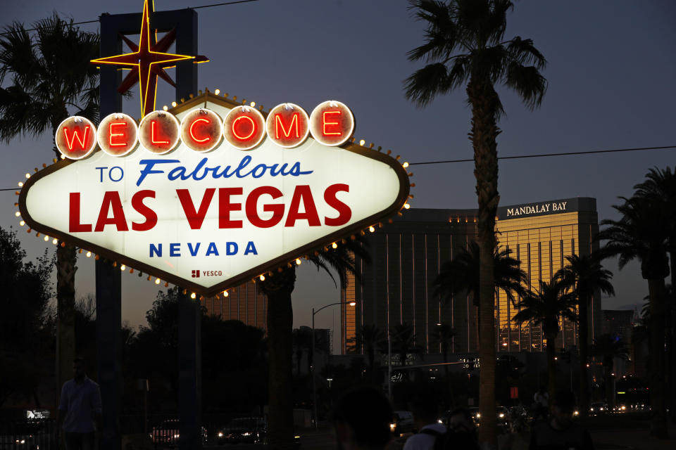 Las Vegas has been the center of the sports gambling world, but other states have legalized sports betting. (AP Photo/John Locher, File)