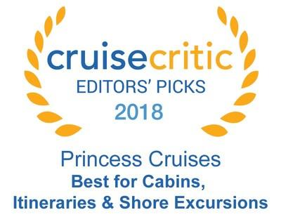 Princess Cruises Named as One of the Top Cruise Lines by Cruise Critic in its 11th Annual Editors' Picks Awards