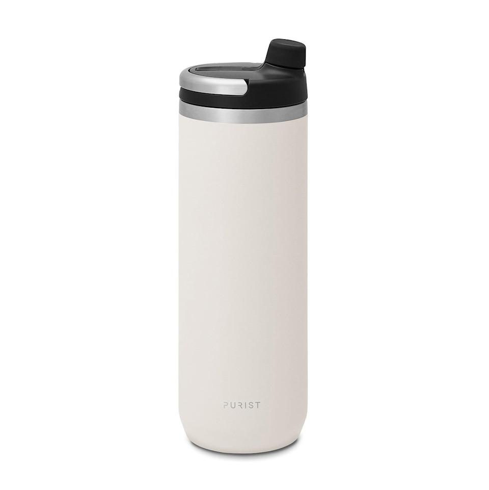 """<h3>Purist Collective Mover 18oz - Union Top</h3><br>In addition to crafting beautifully made stainless steel bottles that are virtually indestructible, Purist Collective donates a portion of profits and resources to support a network of partner organizations doing important community work on the local level. (They're currently working with <a href=""""https://www.pearmentor.org/"""" rel=""""nofollow noopener"""" target=""""_blank"""" data-ylk=""""slk:P.ear"""" class=""""link rapid-noclick-resp"""">P.ear</a>, a resource for empowering homeless and transitional youth through education, art and recreation programs.)<br><br><strong>Purist Collective</strong> Mover 18oz - Union Top, $, available at <a href=""""https://go.skimresources.com/?id=30283X879131&url=https%3A%2F%2Fhuckberry.com%2Fstore%2Fpurist-collective%2Fcategory%2Fp%2F59935-mover-18oz-union-top"""" rel=""""nofollow noopener"""" target=""""_blank"""" data-ylk=""""slk:Huckberry"""" class=""""link rapid-noclick-resp"""">Huckberry</a>"""