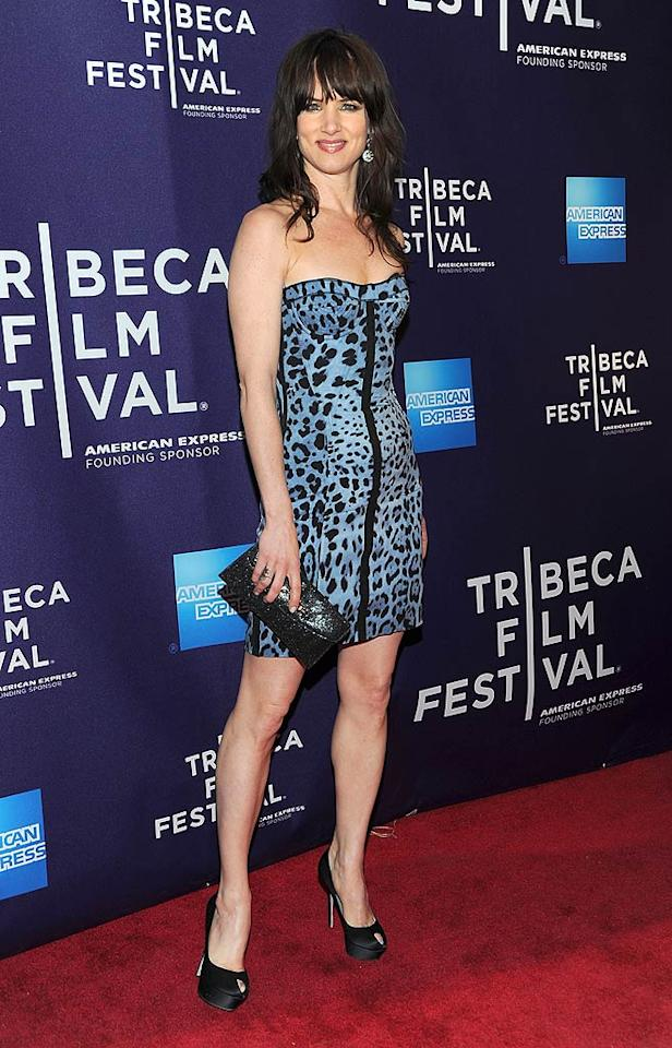 "A few hours later, an almost unrecognizable Juliette Lewis hit the red carpet for the unveiling of her new film, ""Metropia,"" in a ferocious animal print mini. The actress-singer is known for delivering more than her fair share of fashion faux pas, but we have to give her serious credit for this engaging getup. Jason Kempin/<a href=""http://www.gettyimages.com/"" target=""new"">GettyImages.com</a> - April 24, 2010"