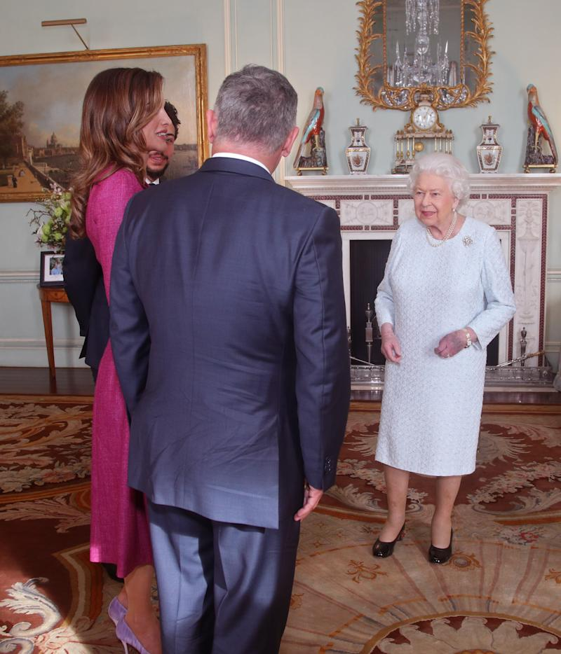 The Queen welcomes surprise royal visitors to Buckingham Palace