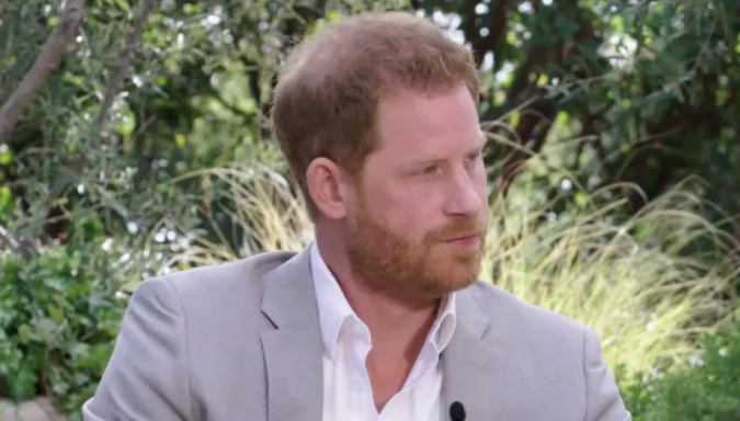 Prince Harry speaks to Oprah.