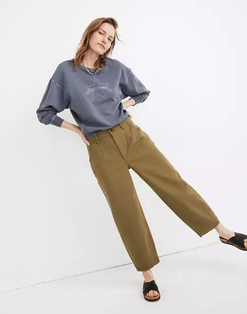<p>The perfect match for lazy days? These <span>Madewell Darted Balloon Pants</span> ($98).</p>