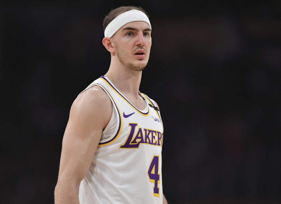 Alex Caruso used his media access to advocate for social justice. (Photo by John McCoy/Getty Images)