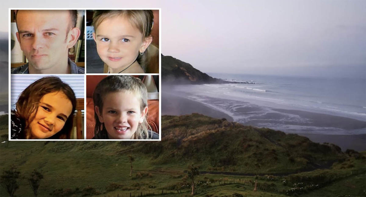 Mystery as father and three kids vanish on remote NZ beach