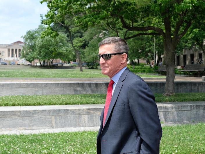 Former national security adviser Michael Flynn leaves the E Barrett Prettyman courthouse on 24 June 2019, in Washington DC: Getty Images