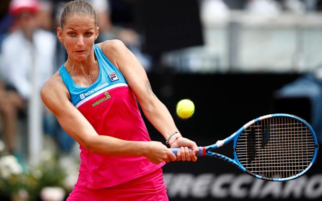 Karolina Pliskova lost her temper during her Italian Open contest - Getty Images Europe
