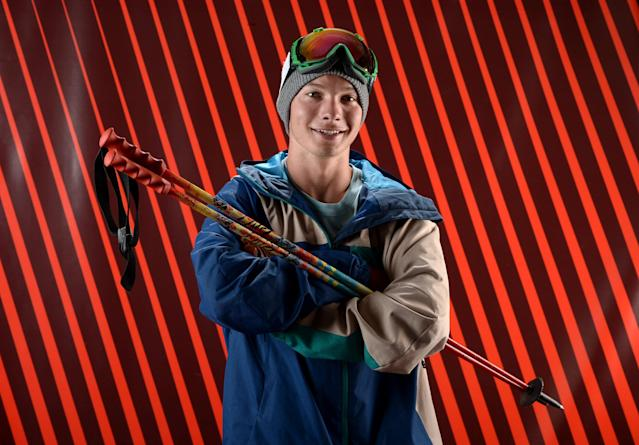 PARK CITY, UT - OCTOBER 01: Freeskier David Wise poses for a portrait during the USOC Media Summit ahead of the Sochi 2014 Winter Olympics on October 1, 2013 in Park City, Utah. (Photo by Harry How/Getty Images)