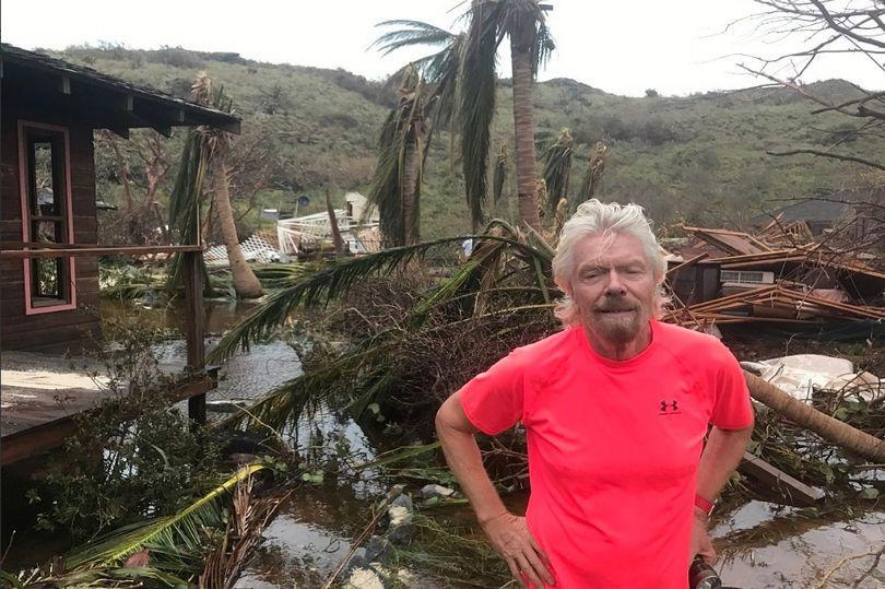 Richard Branson's home in Necker Island in the Caribbean has been destroyed by Hurricane Irma