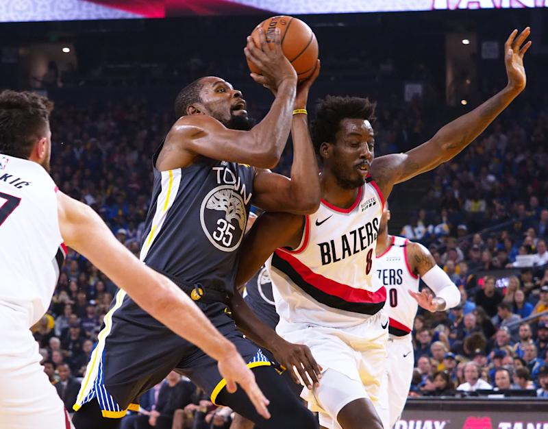 4b92c41577e3 Report  Warriors  Kevin Durant to miss Game 2 of Western Conference Finals