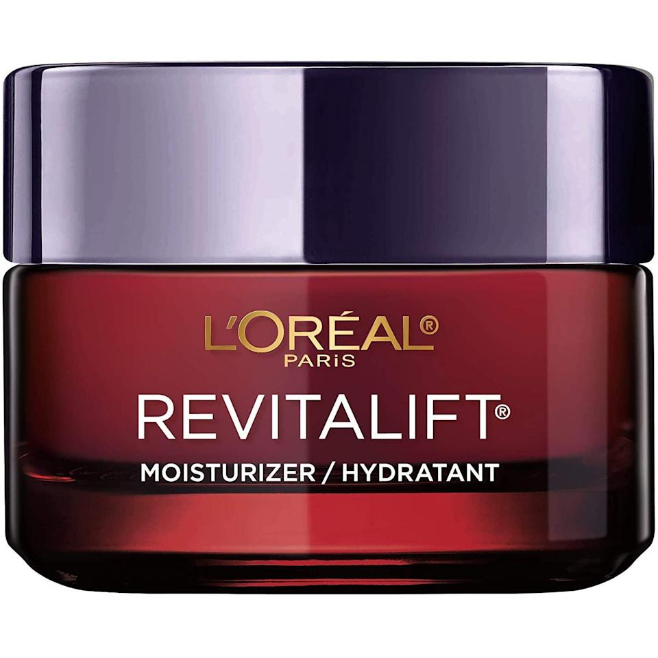 """<h3>L'Oreal Paris Revitalift Triple Power Intensive Day Cream </h3><br>This crowd-pleasing Amazon-beauty buy with its luxuriously nourishing formula left customers' faces feeling plump and moisture-filled. This affordable moisturizer is packed with Pro-Retinol, Hyaluronic Acid, and Vitamin C. One satisfied reviewer refers to this product as her old friend that never lets her down.<br><br><strong>4.5 out of 5 stars and 4,863 reviews</strong><br><br><strong>L'Oreal Paris</strong> Revitalift Triple Power Moisturizer 1.7 oz, $, available at <a href=""""https://amzn.to/2GIhHDS"""" rel=""""nofollow noopener"""" target=""""_blank"""" data-ylk=""""slk:Amazon"""" class=""""link rapid-noclick-resp"""">Amazon</a>"""
