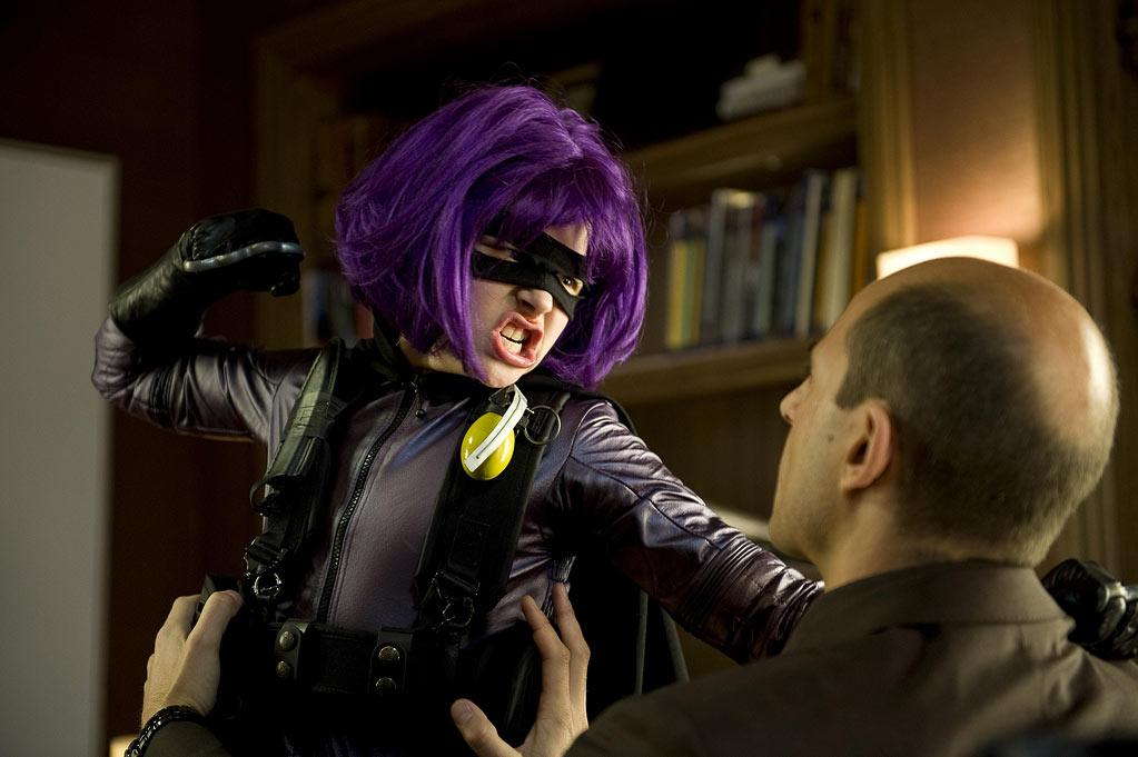 "<b>Mindy ""Hit-Girl"" Macready:</b><br>Another paternally-trained killer out for maternal vengeance, the 11 year old (Chloë Moretz) favors blades, grenades, and hand-to-hand combat in ""Kick-Ass"" (2010). And <a href=""http://www.guardian.co.uk/film/filmblog/2010/apr/02/kick-ass-bad-language"">that potty mouth</a>. <a href=""http://www.thestar.com/entertainment/movies/article/794833--hit-girl-battles-the-critics"">Said Moretz</a> of Hit-Girl, ""This time it's a girl taking charge and she's going and doing this and getting it done the right way."" <a href=""http://www.vanderbilt.edu/AnS/psychology/health_psychology/gymnasts.htm"">Food for thought</a>: Notice how her urchin size compared to muscle-bound superheroes resembles the difference between (<a href=""http://www.ncbi.nlm.nih.gov/pubmed/11960968"">underfed</a>) female and male gymnasts?"