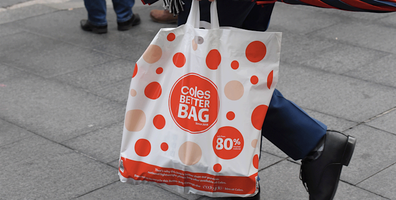 Coles to again stop handing out free plastic bags