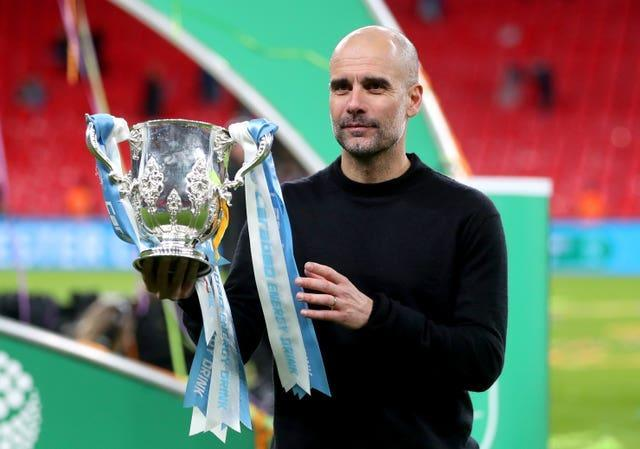 Pep Guardiola's Manchester City have won the League Cup for the previous four seasons.