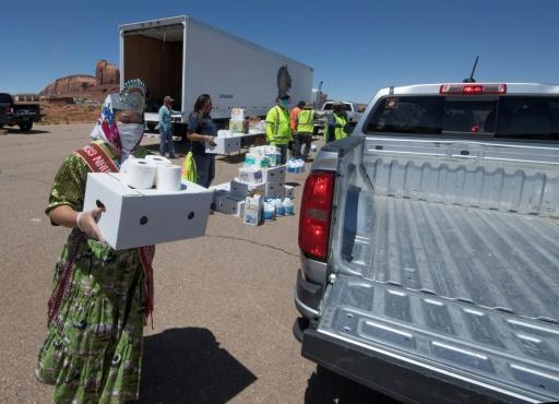 Miss Navajo Nation Shaandiin Parrish delivers food and household items to families in need outside Monument Valley Tribal Park