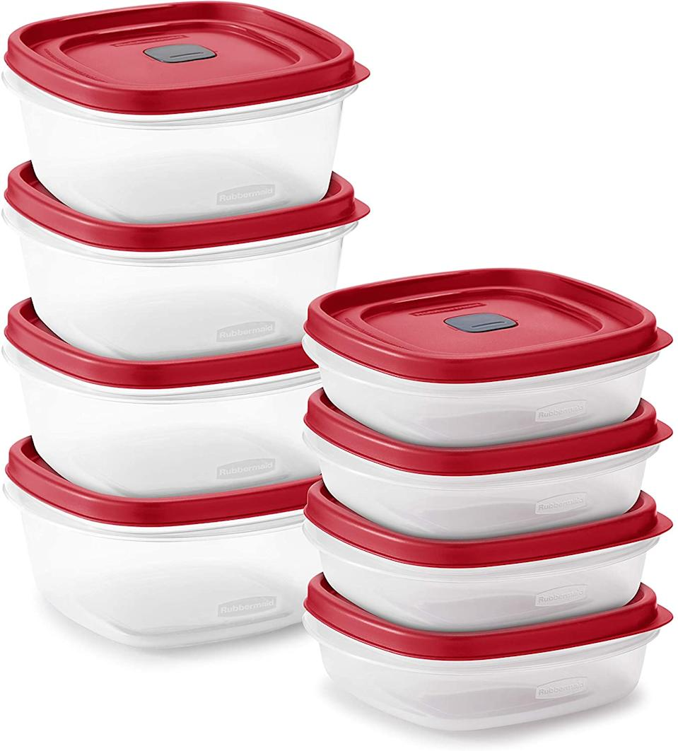 Rubbermaid Easy Find Vented Lids Food Storage, Set of 8 (Photo: Amazon)