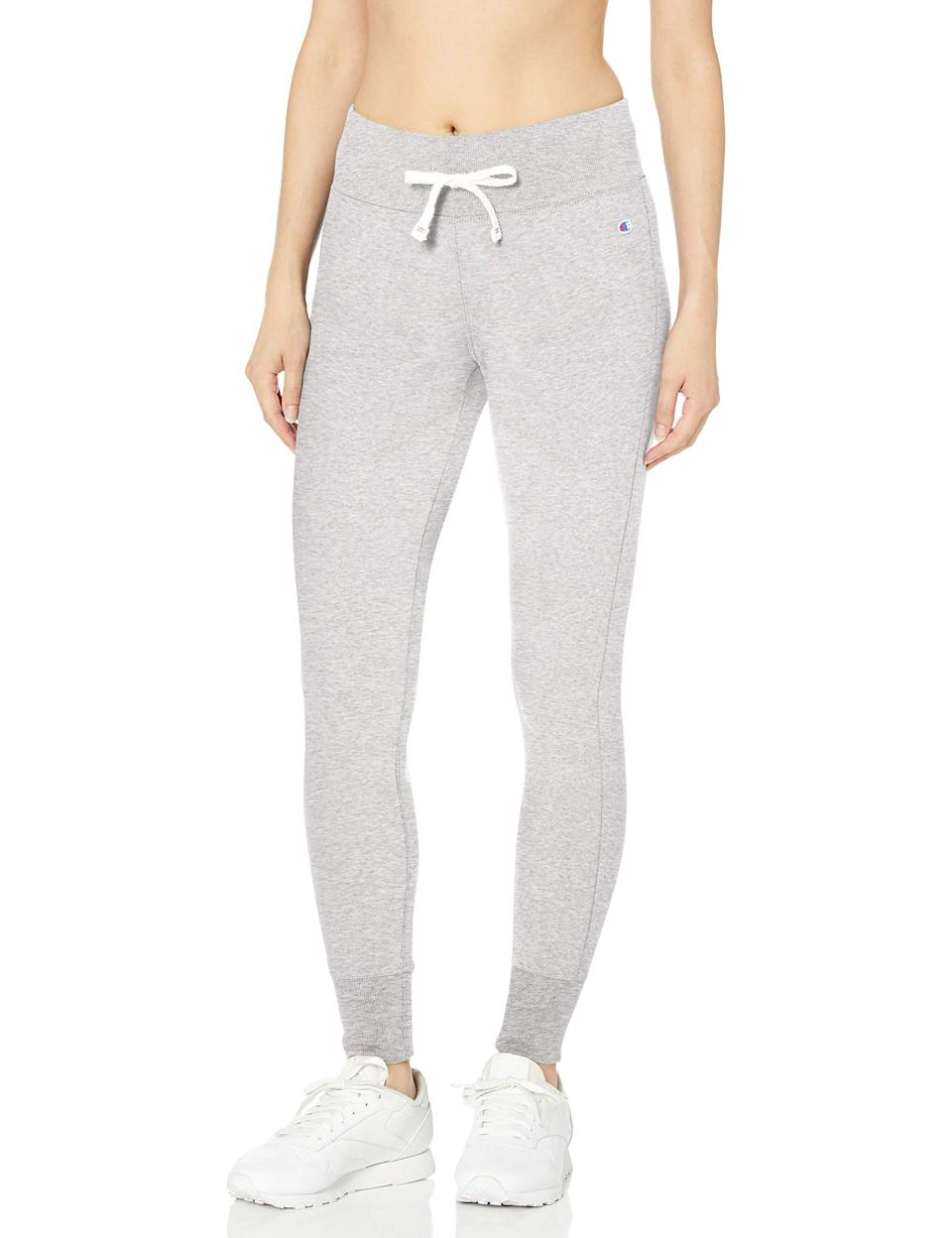 """<h3><a href=""""https://amzn.to/2QNNyVx"""" rel=""""nofollow noopener"""" target=""""_blank"""" data-ylk=""""slk:Champion Sweatpants"""" class=""""link rapid-noclick-resp"""">Champion Sweatpants</a></h3><br><strong>Patricia</strong><br><br><strong>How She Discovered It:</strong> """"I was searching for Champion sweats and found just what I wanted on Amazon."""" <br><br><strong>Why It's A Hidden Gem:</strong> """"No store has them — they've been discontinued everywhere but Amazon!""""<br><br><strong>Champion</strong> Women's Heritage Jogger Tight, $, available at <a href=""""https://amzn.to/2QNNyVx"""" rel=""""nofollow noopener"""" target=""""_blank"""" data-ylk=""""slk:Amazon"""" class=""""link rapid-noclick-resp"""">Amazon</a>"""