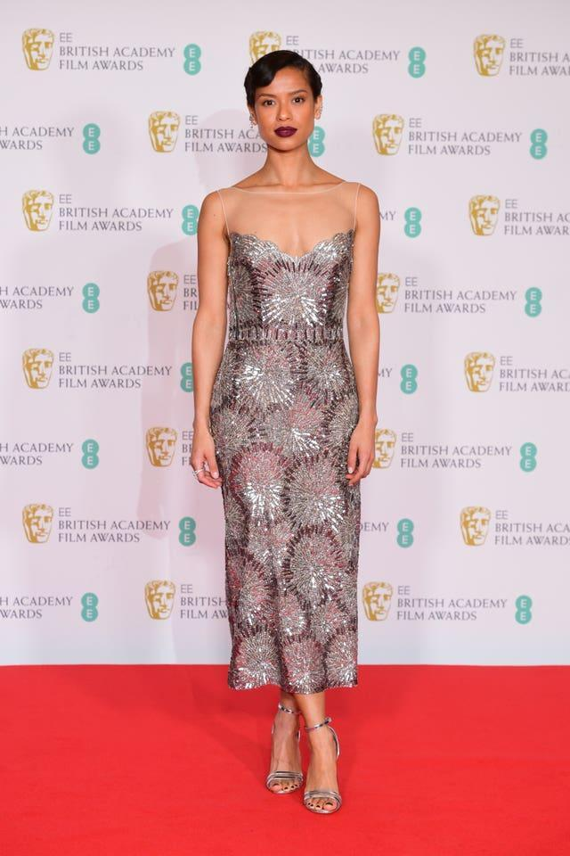 Gugu Mbatha-Raw arrives for the EE BAFTA Film Awards