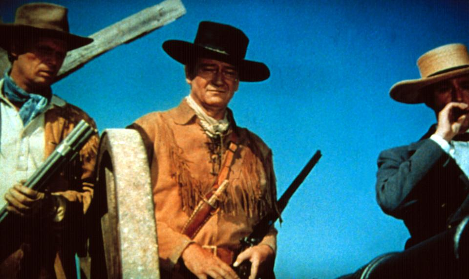 Richard Widmark, John Wayne and Laurence Harvey in 'The Alamo,' which celebrates its 60th anniversary on October 24 (Photo: Courtesy Everett Collection)