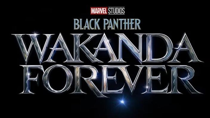 Black Panther: Wakanda Forever title card.