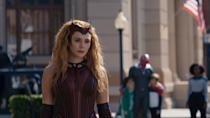 <p>Easily the most recognizable look to copy from <strong>WandaVision</strong> is the Scarlet Witch costume from the last episode. Get her tousled waves with a curling iron or a wig, like the <span>60cm Long Wavy Wig Scarlet Witch Heat Resistant Synthetic Hair Cosplay Wigs</span> ($33). Etsy has a variety of headbands that look exactly like Wanda's. Try the <span>Wandavision Scarlet Witch Wanda Crown Cosplay Mask</span> ($23) or the <span>Scarlet Witch Crown V2</span> ($25). To finish off the look, reach for a deep red lipstick that mimics the hue of the headpiece. </p>