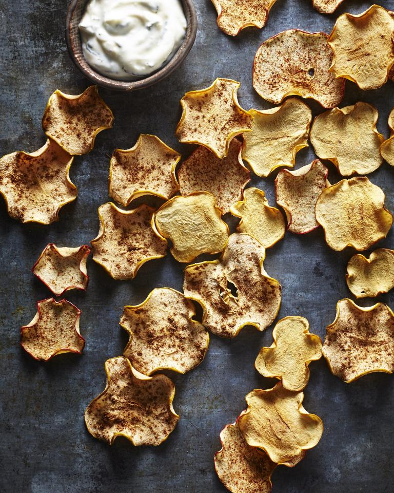 """<p>There's no need to buy pre-packaged apple chips when the real thing is so easy to make at home. We love the sweet and tangy dip with plain apple chips, but you can also serve with apple chips coated in your favorite spice blend--like <a href=""""https://www.myrecipes.com/recipe/apple-chips-ancho-chile-cinnamon-sugar"""">Apple Chips with Ancho Chile Cinnamon Sugar</a> or <a href=""""https://www.myrecipes.com/recipe/chinese-five-spiced-apple-chips"""">Chinese Five Spiced Apple Chips</a>. If you don't have a mandoline, you can use a sharp knife, but your slices won't be quite as even.</p> <p><a href=""""https://www.myrecipes.com/recipe/apple-chips-yogurt-dip"""">Apple Chips with Honey-Lemon Mint Yogurt Dip Recipe</a></p>"""