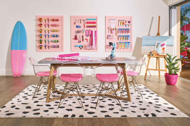 Barbie's hobby studio should satisfy all your crafting needs. (Photo: Courtesy of Mattel)