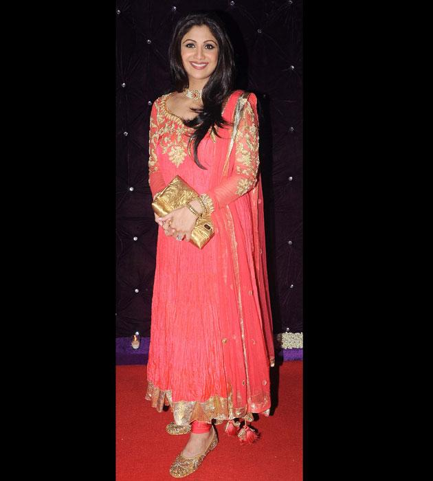 Shilpa Shetty opted for an anarkali