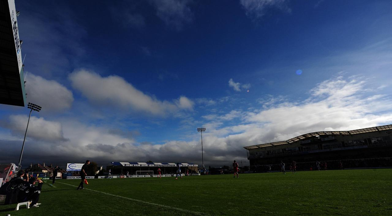General view of Bristol Rovers v Hartlepool United during the Sky Bet League Two match at the Memorial Stadium, Bristol.