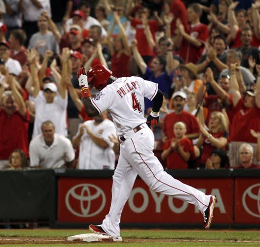 Ludwick drives in 4, Reds beat Padres 7-6