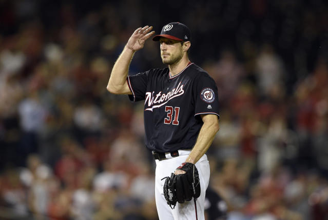 Will Max Scherzer's first 300-strikeout season result in his fourth Cy Young award? (AP)