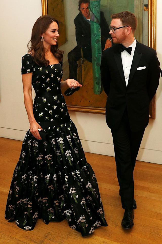 <p>The only dress to rival this stunning floral tiered Alexander McQueen gown is the Duchess' wedding dress, in our humble opinion. The stunning design has been altered since the last time Kate wore it, and now comes with a cap-sleeve, but we still love.  </p>