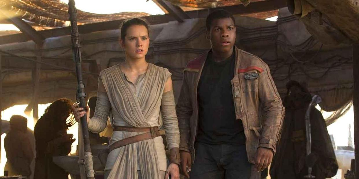 Finn and Rey in The Force Awakens (Credit: Lucasfilm/Disney)