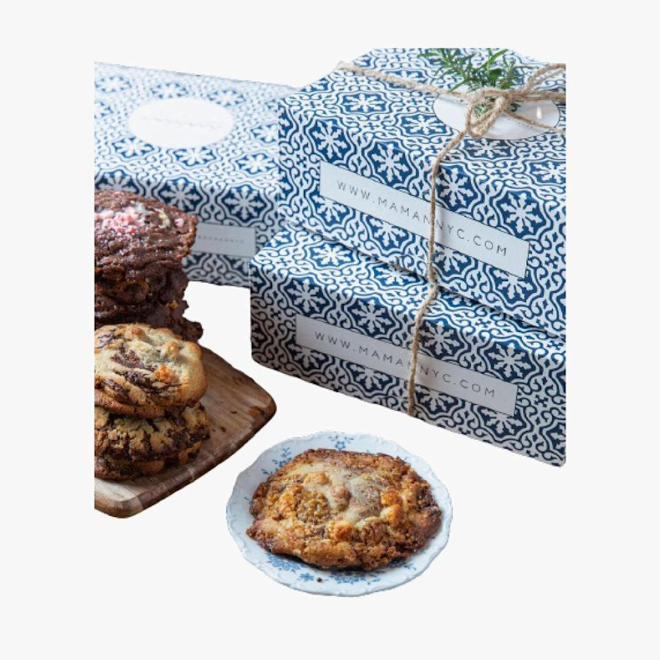 """Maman's cookies are just like mom's, only they're much, much better. $68, Maman. <a href=""""https://www.mamannyc.com/maman-shop/mamans-holiday-cookie-gift-box-2020"""" rel=""""nofollow noopener"""" target=""""_blank"""" data-ylk=""""slk:Get it now!"""" class=""""link rapid-noclick-resp"""">Get it now!</a>"""
