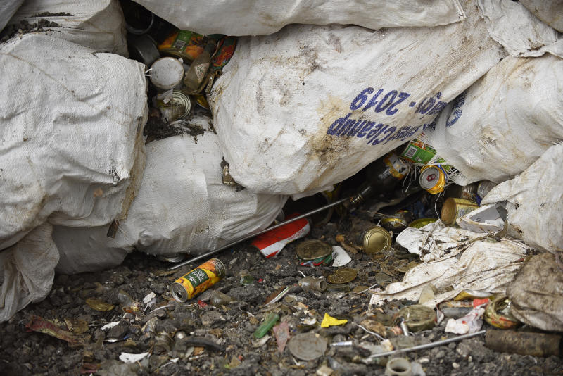Full sack of waste garbage's collected from Mount Everest and Base Camp in Kathmandu, Nepal on Wednesday, June 05, 2019. Clean-up Campaign 2019 on Mount Everest removes 24,000lbs of rubbish and four dead bodies. (Photo by Narayan Maharjan/NurPhoto via Getty Images)