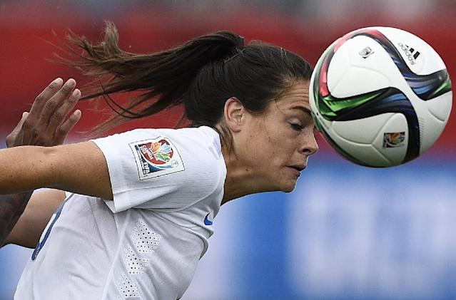 Former England star Claire Rafferty told AFP the struggles she went through were worth it (AFP Photo/FRANCK FIFE)