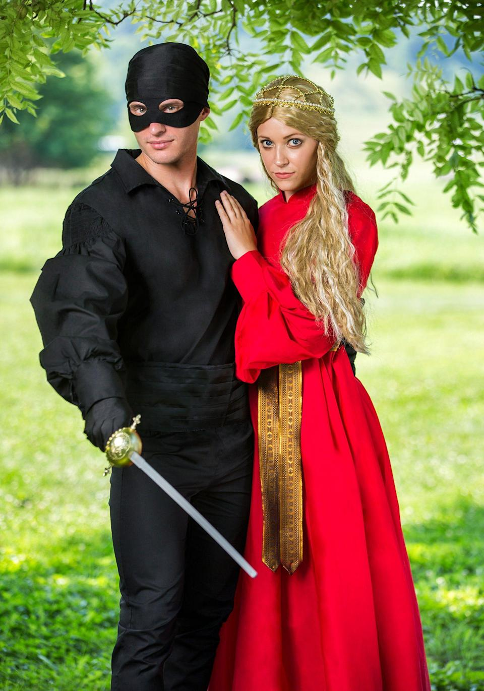 """<p><strong>Fun Costumes</strong></p><p>amazon.com</p><p><strong>$59.99</strong></p><p><a href=""""https://www.amazon.com/dp/B01LWK7IAV?tag=syn-yahoo-20&ascsubtag=%5Bartid%7C10055.g.4544%5Bsrc%7Cyahoo-us"""" rel=""""nofollow noopener"""" target=""""_blank"""" data-ylk=""""slk:Shop Now"""" class=""""link rapid-noclick-resp"""">Shop Now</a></p><p>Grab your <a href=""""https://www.amazon.com/FunCostumes-Exclusive-Princess-Westley-Costume/dp/B01LZ5WMZZ/ref=cts_ap_3_vtp?tag=syn-yahoo-20&ascsubtag=%5Bartid%7C10055.g.4544%5Bsrc%7Cyahoo-us"""" rel=""""nofollow noopener"""" target=""""_blank"""" data-ylk=""""slk:Westley"""" class=""""link rapid-noclick-resp"""">Westley</a> and tell him to do """"as you wish"""" by dressing up in this couples costume, which celebrates one of the greatest romances of the '80s. </p><p><strong>RELATED:</strong> <a href=""""https://www.goodhousekeeping.com/holidays/halloween-ideas/g2625/halloween-costumes-for-couples/"""" rel=""""nofollow noopener"""" target=""""_blank"""" data-ylk=""""slk:60 Best Halloween Couples' Costumes"""" class=""""link rapid-noclick-resp"""">60 Best Halloween Couples' Costumes</a></p>"""