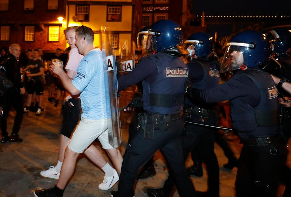 Police with riot shields stepped in to break fighting up (REUTERS)
