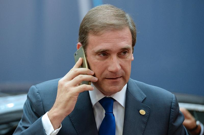 Outgoing Portuguese Prime Minister Pedro Passos Coelho arrives to take part in a European Union summit dominated by the migration crisis, in Brussels on October 15, 2015 (AFP Photo/Thierry Charlier)