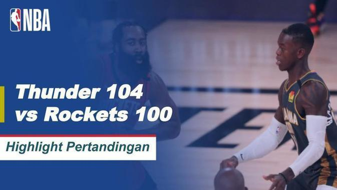 VIDEO: Highlights Laga Seru NBA, Oklahoma City Thunder Kalahkan Houston Rockets 104-100