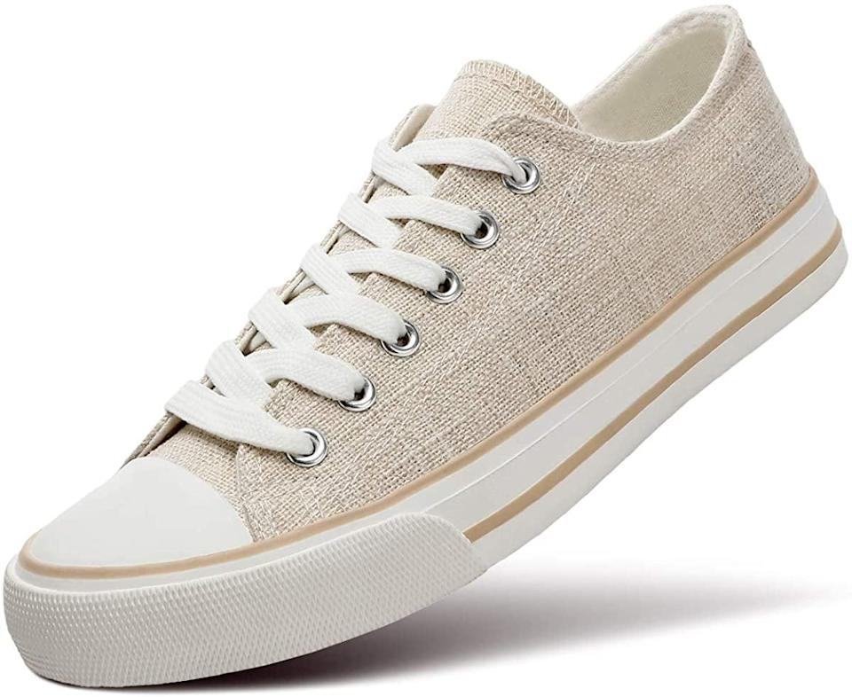 <p>Neutral shoes like these <span>ZGR Canvas Low-Top Sneakers</span> ($22) go with everything.</p>