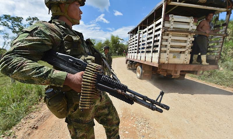 The Colombia-FARC conflict has left 260,000 people dead and forced nearly seven million from their homes in the past five decades (AFP Photo/Luis Acosta)