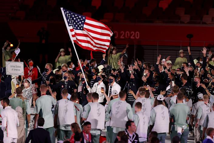 Team USA enters the stadium during the Opening Ceremony.