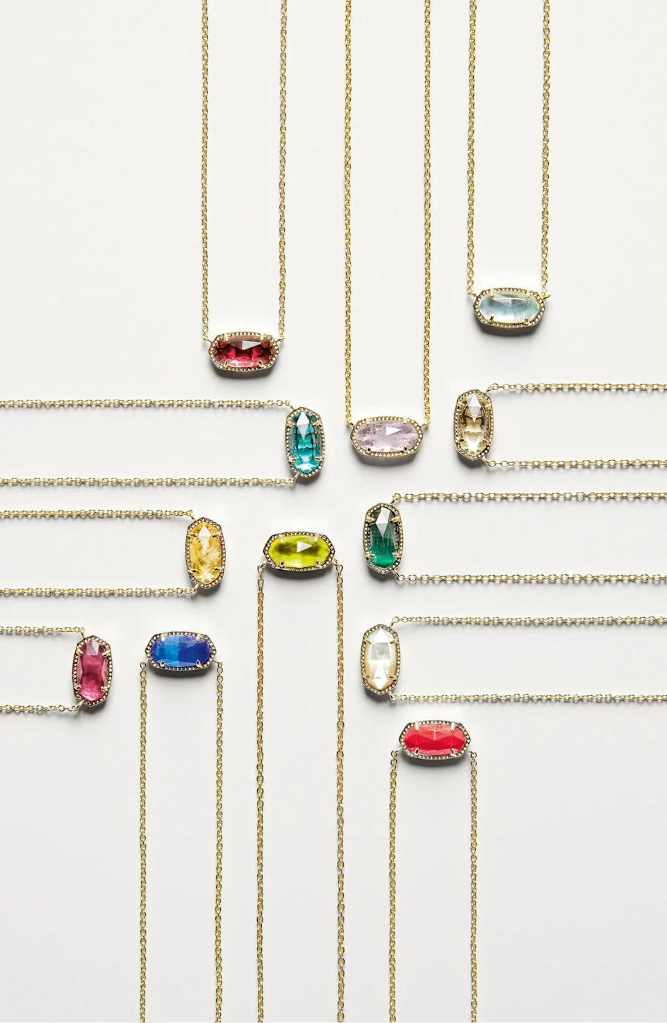 <p>Make someone feel special with the <span>Kendra Scott Elisa Birthstone Pendant Necklace</span> ($50 - $60). They make for the prettiest, most exciting stocking stuffers.</p>
