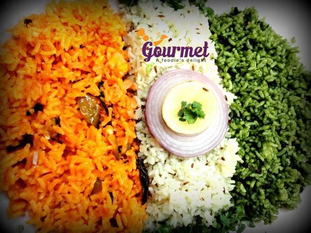 tri-coloured pulav
