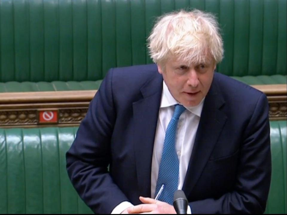 Boris Johnson speaking in the Commons after the Queen's Speech (UK Parliament)